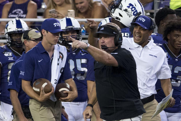 Picture for Conference Questions: TCU hits 10 in Big 12 as chaos reigns