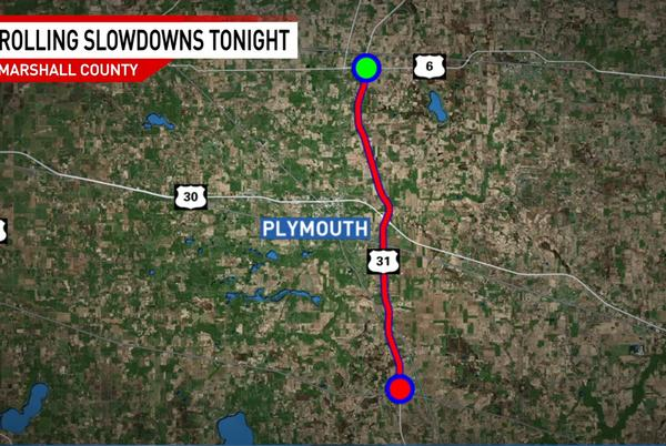 Picture for TRAFFIC ALERT: Expect slowdowns tonight on US 31