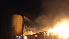 Cover for Utah County police investigating Spanish Fork barn fire as 'criminal act'