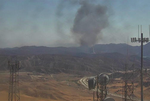 Picture for Well-Involved Truck Fire Sparks Brush Fire North Of Santa Clarita