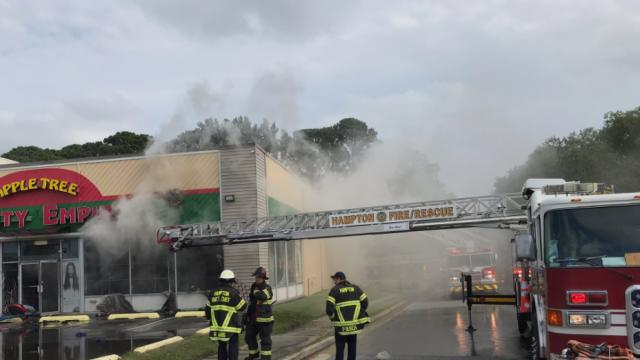 Picture for Hampton Firefighters respond to business fire on Mercury Boulevard