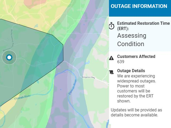 Multiple Power Outages Reported In Rome Floyd County News Break