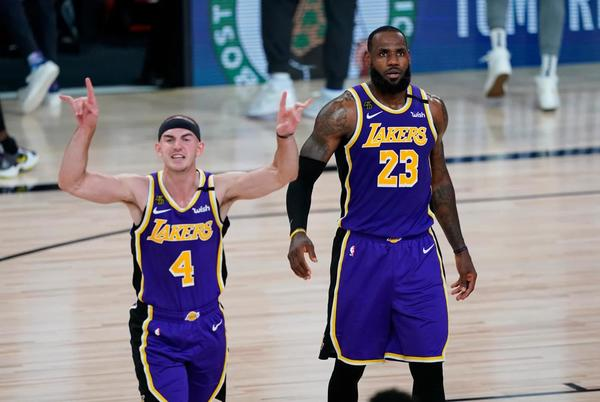 """Picture for LeBron James Hints At Wanting To Swap Jerseys With Alex Caruso Next Season: """"My Twin I Need That 6 Jersey ASAP"""""""