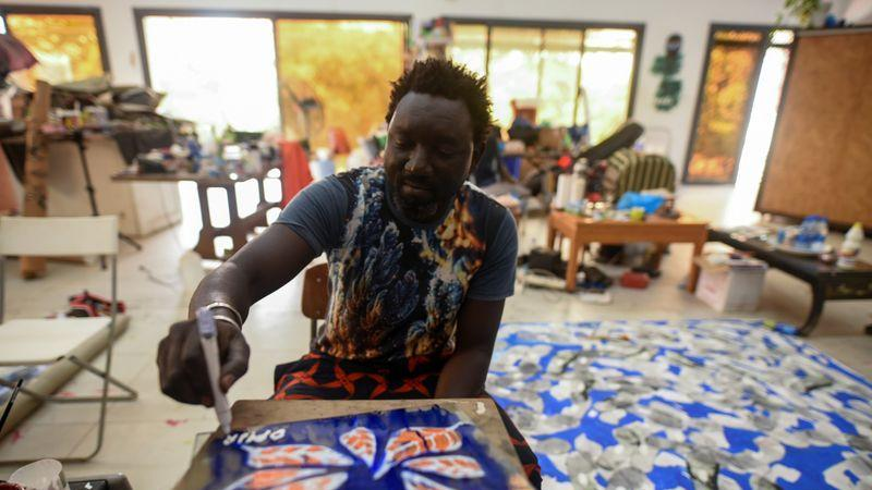 Picture for Senegalese artist Omar Ba tackles politics and the pandemic with paint