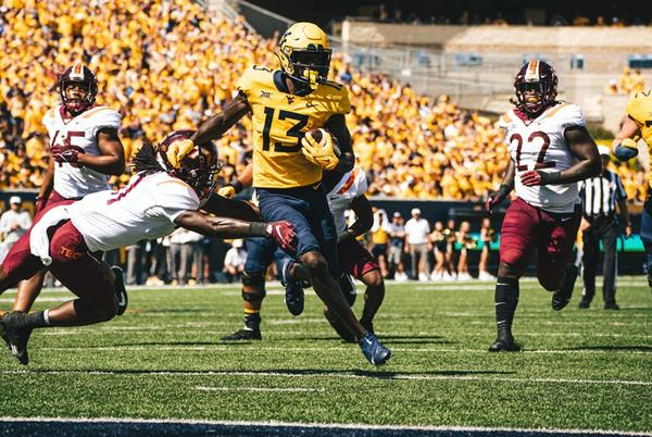 Picture for Mountaineers Survive Scare to Defeat No. 15 Virginia Tech to Reclaim Black Diamond Trophy