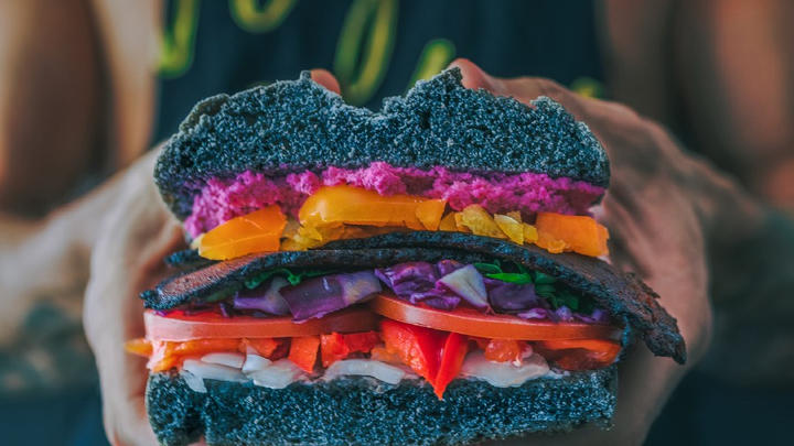 Cover for A colorful mouthful of flavor: Flower Burger opens up shop right here in LosAngeles
