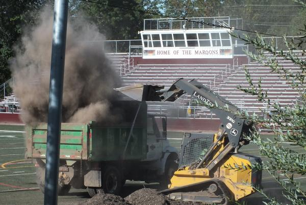 Picture for RHS Stadium and Stevens Field Clean-up Begins