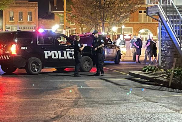 Picture for Heavy police presence in downtown Thursday evening