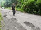 Picture for Neighbors patch road as Mount Carbon is unable to pay for repairs