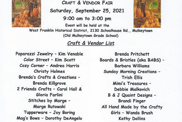 Picture for Fall Craft and Vendor Fair Saturday in Mulkeytown