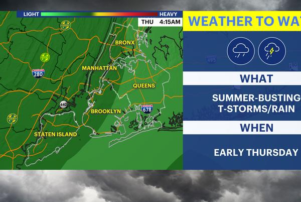 Picture for Pleasant start to workweek; wet conditions move in on Wednesday night