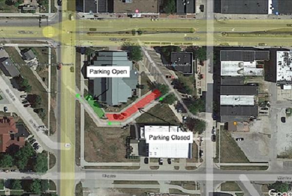 Picture for Library parking closed for solar canopy installation