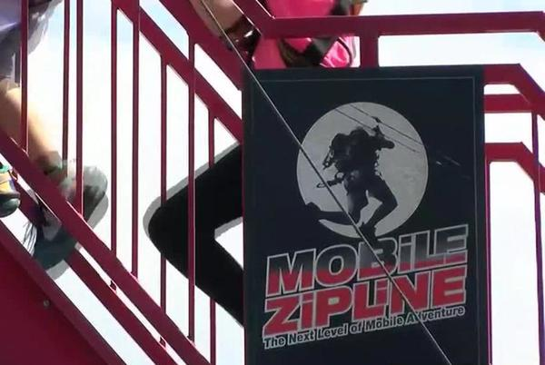 """Picture for The Recording Library of West Texas hold first """"Zipline in the Dark"""" in Midland"""