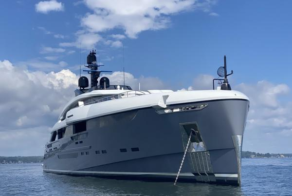 Picture for Mega Yacht Utopia IV Anchored Off Rye