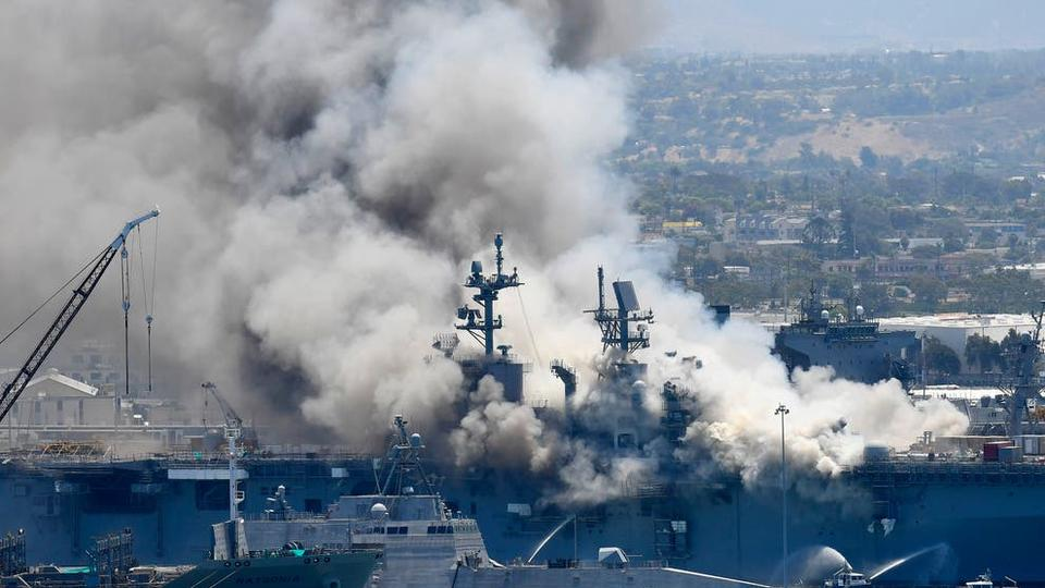 Picture for Navy charges sailor with setting fire that destroyed warship