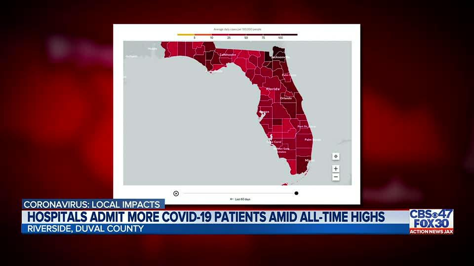 Picture for COVID-19 cases in NE FL continue to climb, projections from Mayo Clinic show no flattening of curve