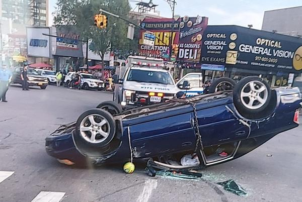 Picture for Two Arrested after Wild Fordham Manor Crash Injures At Least Five