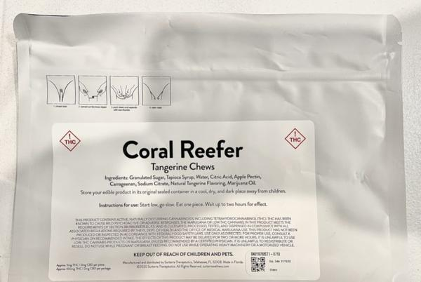 Picture for Coral Reefer Tangerine Fruit Chews Review Featuring Surterra in Florida