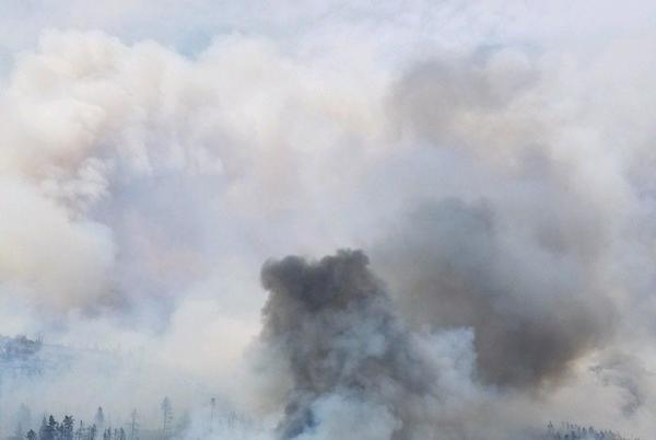 Picture for Sand Creek Fire now 58% contained; No additional fire growth