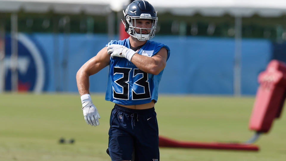 Picture for Titans' Brady Breeze kicked out of practice for hit on Dez Fitzpatrick