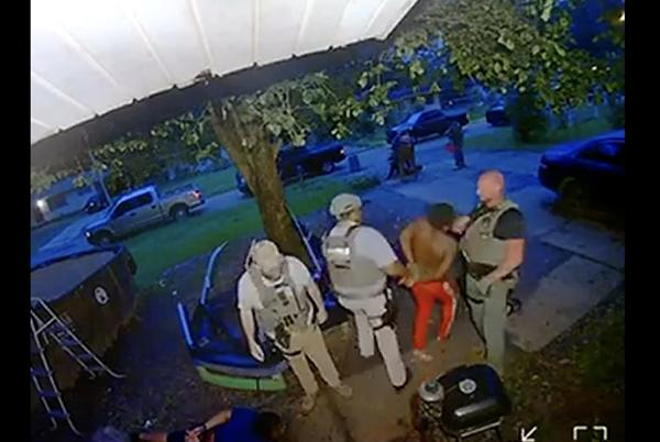 Picture for Video shows US Marshal hitting handcuffed Black man in face