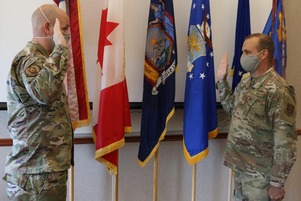 Picture for Sherrill airman reenlists in Air National Guard