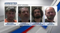 Cover for Four men arrested in Wayne County