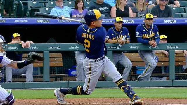 Picture for Colorado Rockies   Luis Urías crushes solo home run