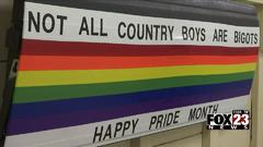 Cover for Local man who went viral for supporting LGBTQ+ community with painted tailgate, now raising money for Pride month