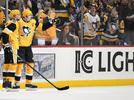 Picture for Evgeni Malkin skates during Monday's practice, Brian Dumoulin does not