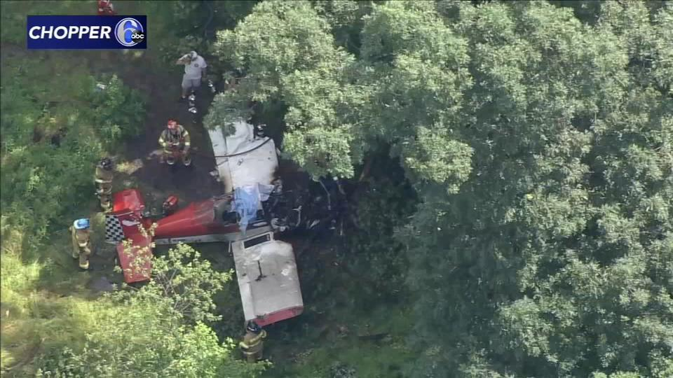 Picture for Plane crashes in wooded area behind homes in Doylestown, Bucks County