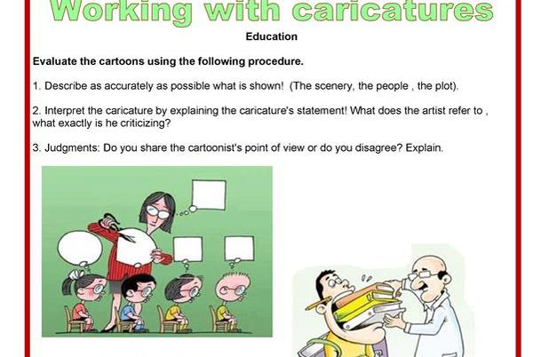 Picture for Oral communication - Working with caricatures - Education