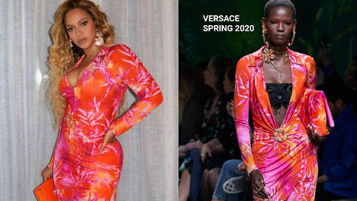 Instagram Style Beyonce In Versace Michael Costello Mugler Out In Miami Ny News Break