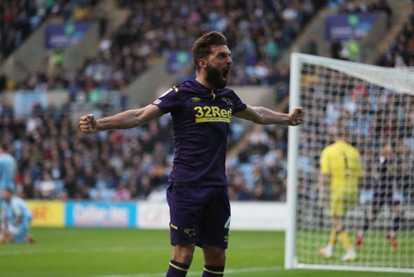 Picture for Graeme Shinnie earns Derby a point and ends Coventry's home run