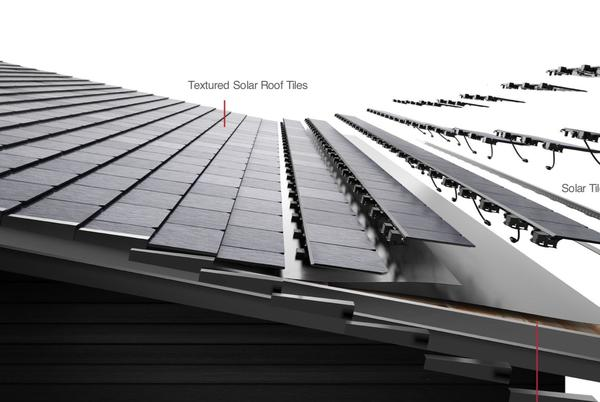 Picture for Tesla drops claim that solar roof tiles are '3x stronger than standard tiles'