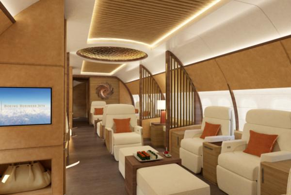Picture for Boeing's new Mark Berryman BBJ MAX cabins impress