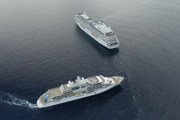 Picture for Two Crystal Cruises Ships Meet in The Bahamas