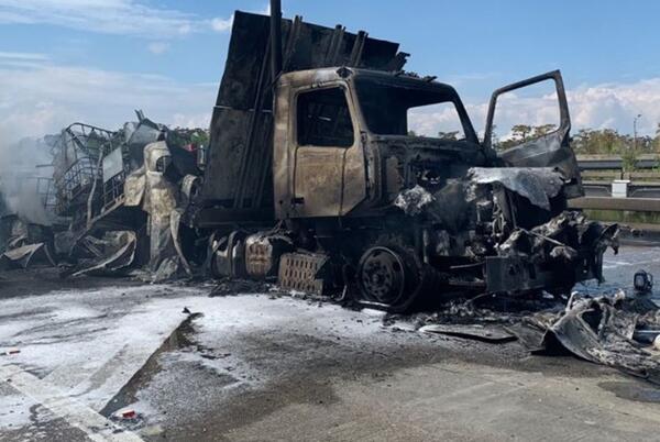 Picture for Massive tanker-truck fire shuts down I-10E near I-310