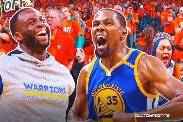 Picture for Warriors star Draymond Green mocks Kevin Durant on first game vs. Thunder after shock exit