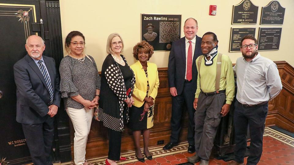 Picture for Denton County unveils bronze plaque honoring Zach Rawlins