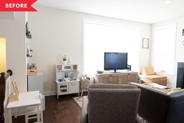 Picture for Before and After: A $500 Living Room Redo Features a Bold Wall Color and Lots of Cozy Vibes
