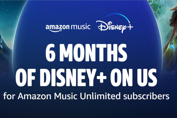 Picture for Get 6 months of Disney Plus for free with an Amazon Music Unlimited subscription