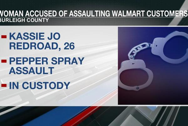 Picture for Woman in custody after witnesses say she pepper sprayed patrons at Walmart in Bismarck
