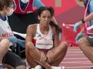 Picture for Katarina Johnson-Thompson refuses help after injury to cross finish line