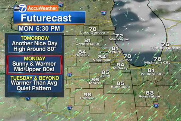 Picture for Chicago Weather: Clear, nice Saturday night