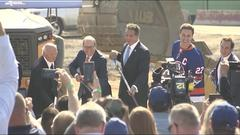 Cover for AG report: Gov. Cuomo inappropriately touched trooper at UBS Arena groundbreaking ceremony in Elmont