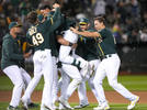 Picture for Elvis Andrus the hero as A's earn their sixth walk-off win; Matt Chapman emerges with three-hit game