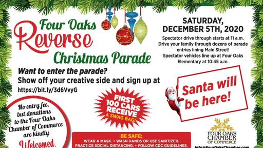 "Concord Nc Christmas Parade Entry 2020 Four Oaks ""Reverse"" Christmas Parade 