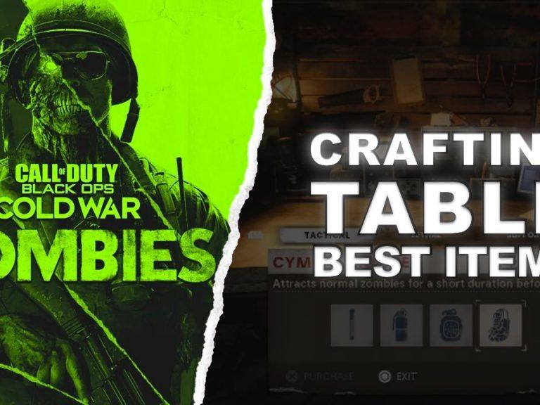 How To Use The Crafting Table Black Ops Cold War Zombies News Break