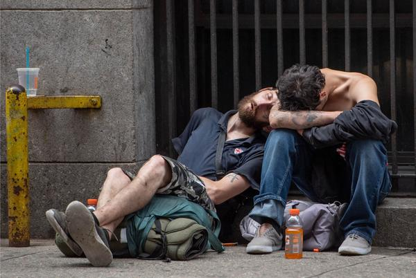 Picture for 'City of the Walking Dead:' Junkies shoot up in broad daylight in Midtown